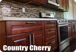 Country Cherry Cabinets