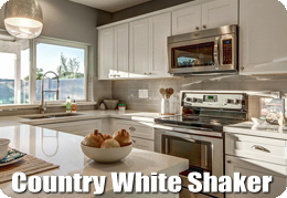 Country White Shaker Cabinets