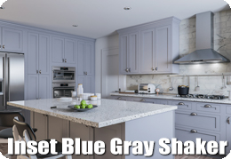 Inset Blue Gray Shaker