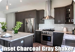 Inset Charcoal Gray Shaker