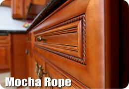 Mocha Rope Cabinets