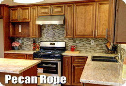 Pecan Rope Cabinets