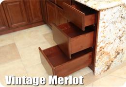 Vintage Merlot Cabinets