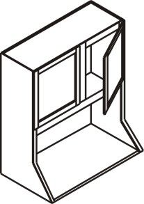 "Wall Microwave Cabinet 27"" x 30"""