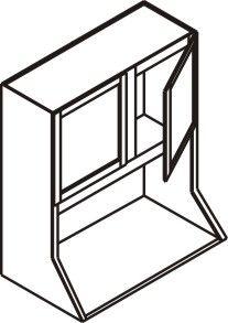 "Wall Microwave Cabinet 27"" x 39"""