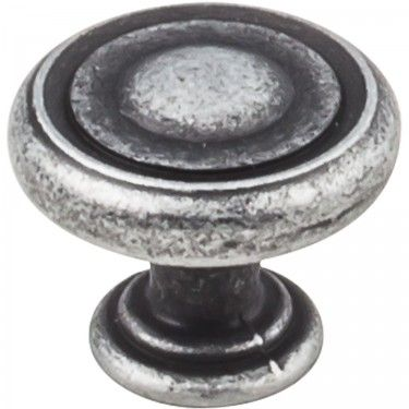 "Bremen Distressed Antique Silver 1-1/4"""