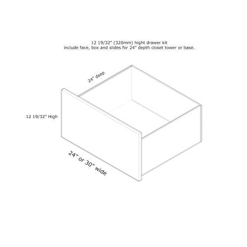 """Closet Drawer 30W x 12H"""" (24'' Deep Closet Tower)"""