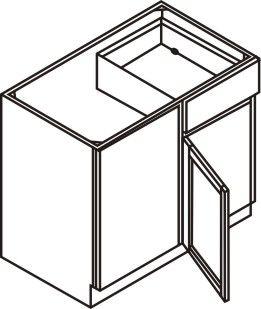 """Blind Corner Base Cabinet 42-45"""""""