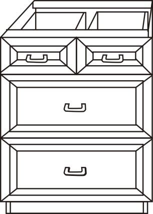 "Drawer Base Cabinet 33"""