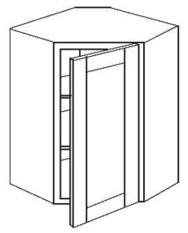 "Wall Diagonal Corner Cabinet 27"" x 30"" (Glass Doors)"