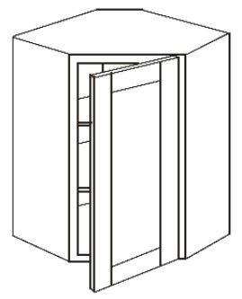 "Wall Diagonal Corner Cabinet 27"" x 30"" (Solid Doors)"