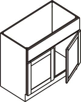 "Vanity Cabinet 36""W x 32.5""H x 21""D"