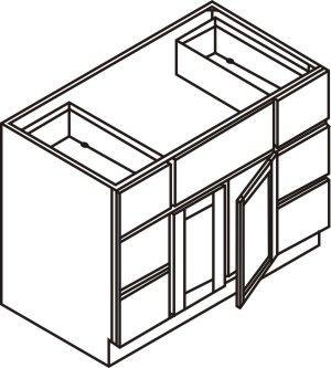 "Vanity Cabinet w/ 6 Drawers 60""W x 32.5""H x 21""D"