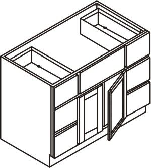 "Vanity Cabinet w/ 6 Drawers 48""W x 32.5""H x 21""D"