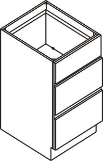 "Vanity Drawer Base Cabinet 15""W x 32.5""H x 21""D"
