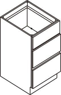 "Vanity Drawer Base Cabinet 18""W x 32.5""H x 21""D"