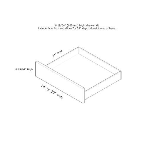 """Closet Drawer 30W x 6H"""" (24'' Deep Closet Tower)"""