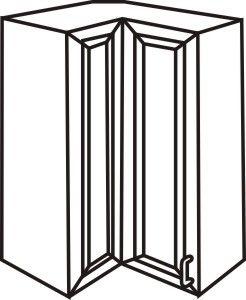 "Wall Bi-Fold Corner Cabinet 27"" x 30"""