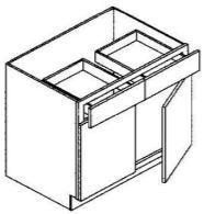 """Base Cabinet 42"""" : 2 Door & 2 Drawers"""