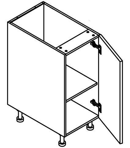 """Base Cabinet 9""""  - Full Height Door (Hinge Left)"""