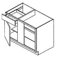 """Blind Corner Base Cabinet 36-42"""""""
