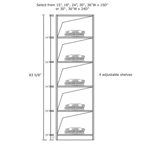 "Closet Tower With Shelves 18W x 15D x 84H"""