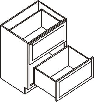 """Drawer Base Cabinet 33"""" - 2 drawers"""