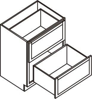 """Drawer Base Cabinet 30"""" - 2 drawers"""