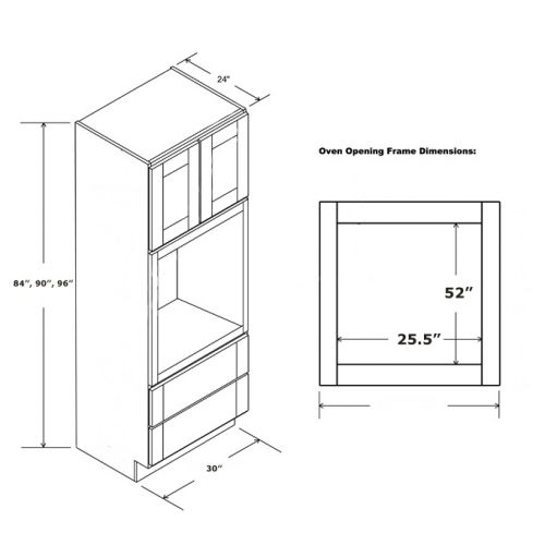 MICROWAVE OVEN CABINET 30 x 96