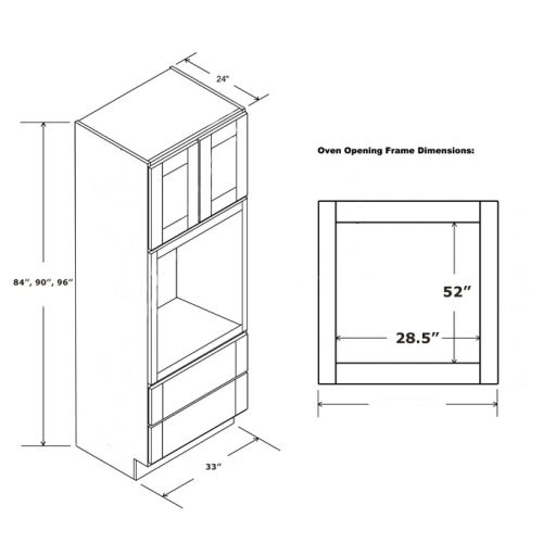MICROWAVE OVEN CABINET 33 x 96