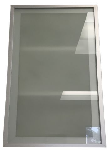 """Frosted Glass Door 33x36"""" Aluminum Frame"""