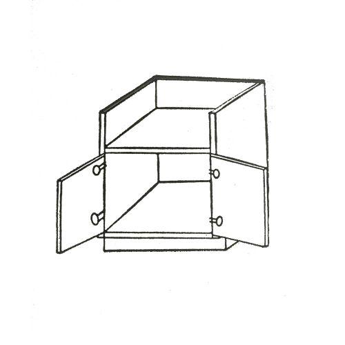 """36"""" Farm Sink Base Cabinet: 2 Doors"""
