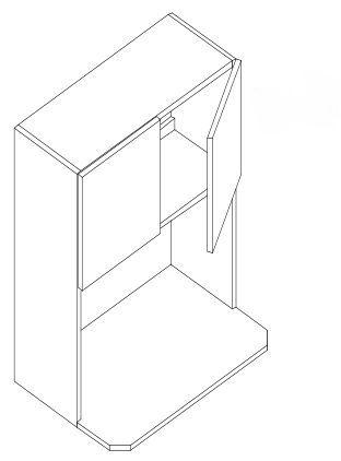 WALL MICROWAVE CABINET 27 x 42