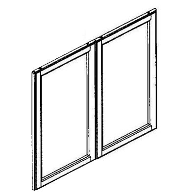 Wall Frosted Glass Door 33 x 36