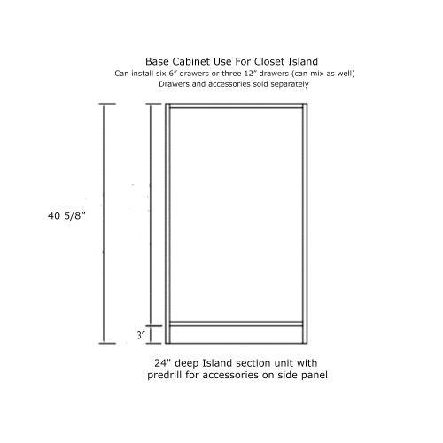 "Closet Base Cabinet 30W x 24D x 41H"""