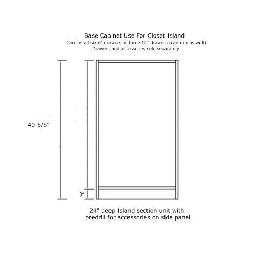 "Closet Base Cabinet 24W x 24D x 41H"""