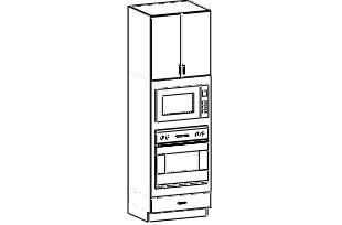 """Microwave Oven Cabinet 31"""" x 93"""""""