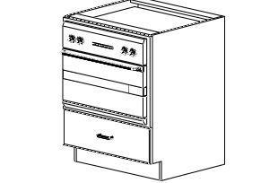 "Base Microwave Cabinet 27"""