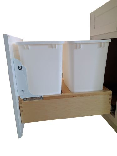 """Trash Base Cabinet 18"""": 1 Door & 1 Drawer"""