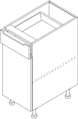 "12"" Base Cabinet: 1 Door & 1 Drawer"