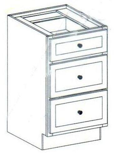 """15"""" Vanity Drawer Base Cabinet 34.5""""H"""