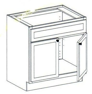 """30"""" Vanity Sink Base Cabinet 34.5""""H"""