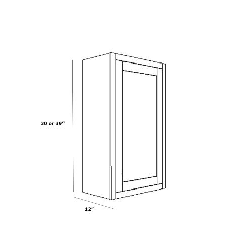 """Wall Cabinet 09"""" x 39"""""""